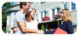 realtor-congratulating-happy-homeowner-couple